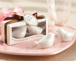 50 Love Birds in the Window White Ceramic Salt & Pepper Shaker Wedding F... - $130.39