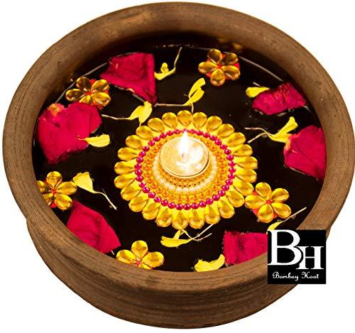 Bombay Haat Handcrafted Floating Tealight Candle Holder Floating Diya With 5 Pre