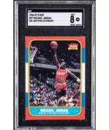Michael Jordan Signed 1986 Fleer Rookie #8 Bulls Card UDA SGC Auto8 - $33,949.03