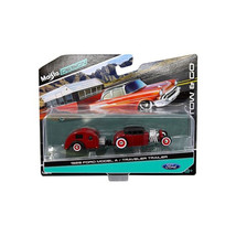 1929 Ford Model A Burgundy and Traveler Trailer Tow & Go 1/64 Diecast Mo... - $23.53