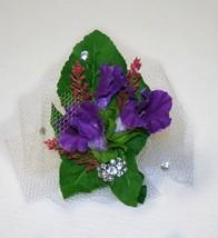 Prom, Wedding Accessories, Purple Flower Corsage, Prom Accessories - $9.99