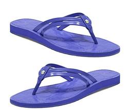 Coach Juney Periwinkle Blue atent Flip Flop - Size 7M - $44.05