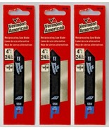 """Vermont American 30108 4"""" x 24 TPI HSS Reciprocating Saw Blade (3 Packs) - $4.46"""