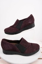 Clarks Artisan Womens Wedges Loafers Moccasins Shoes Sz 7 M Eu 37.5 Purple Plum - $29.69