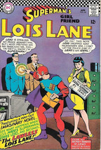 Superman's Girlfriend Lois Lane Comic Book #64, DC Comics 1966 VERY FINE - $47.33