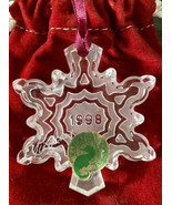 Waterford SNOW CRYSTAL 1998 Snowflake Ornament 4th Edition Signed By Jim... - $29.92