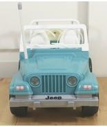 Vtg 1999 Mattel Barbie Radio Remote Control Blue Beach Light Up Jeep Wra... - $56.95
