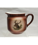 Antique German Porcelain Milk/Cream Pitcher with Elk/Deer - $49.95