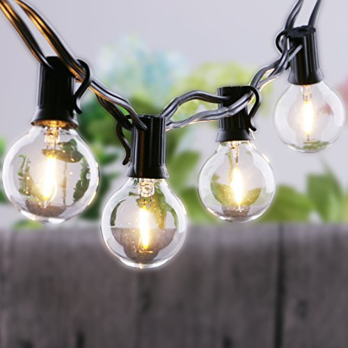 25Ft LED Globe String Lights with Warm White G40 Light BulbsUL Listed