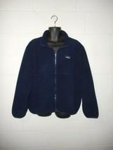 Vintage Navy Blue LL Bean Fleece Zip Up Jacket Coat XL - $24.99