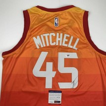 Autographed/Signed DONOVAN MITCHELL Utah Orange Basketball Jersey PSA/DN... - €222,74 EUR