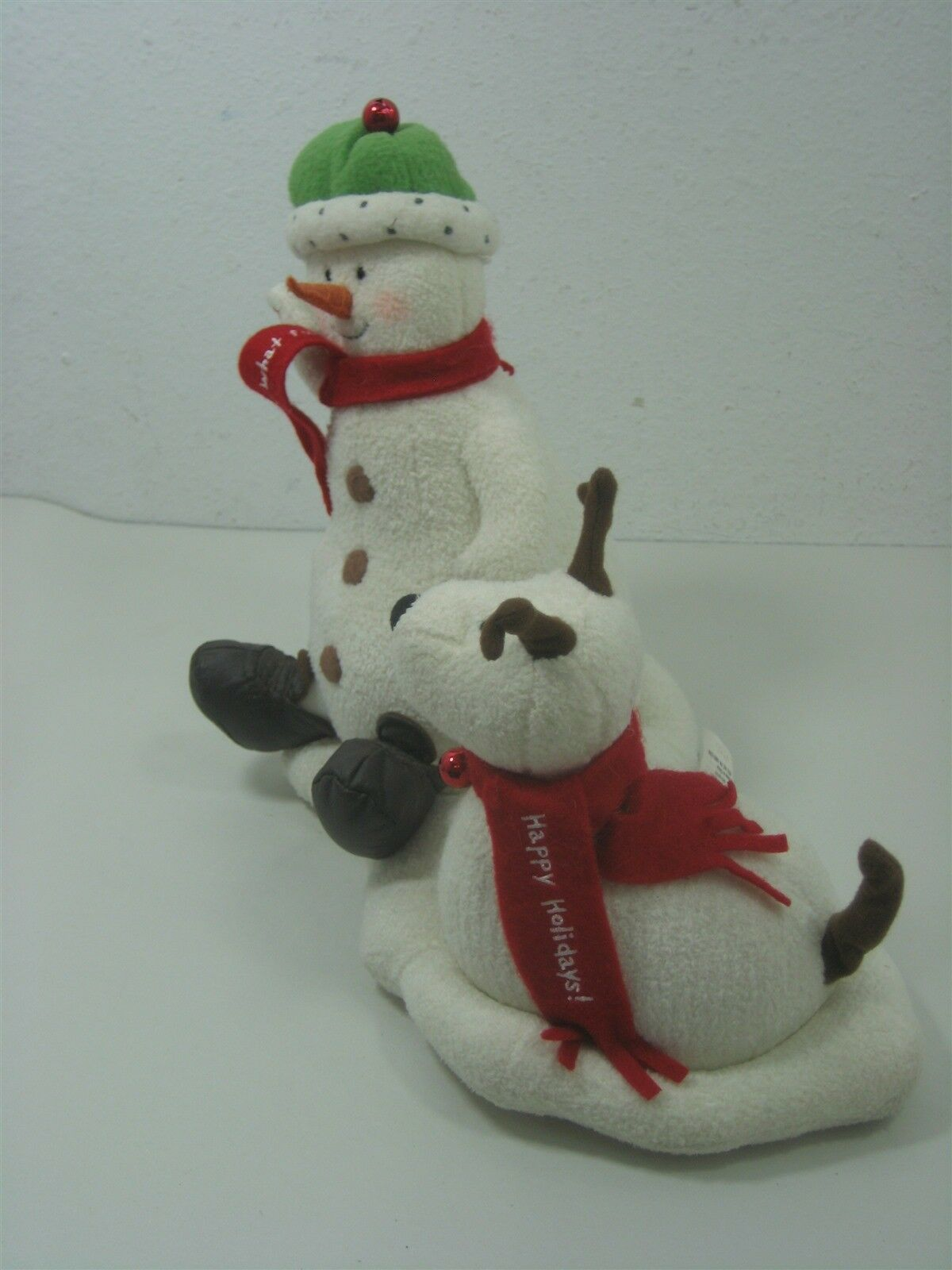 2004 Hallmark Jingle Pals Plush Snowman with Dog Animated Sings Jingle Bells image 3