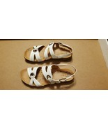 WOMEN'S BARE TRAPS JOLLITY IVORY/OFF WHITE ANKLE STRAP SLINGBACK SANDALS... - $15.00