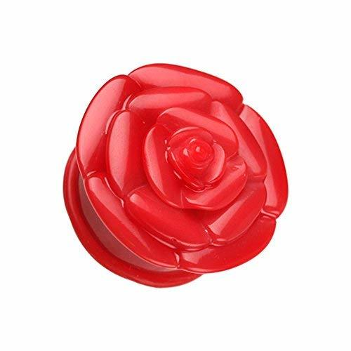 Primary image for Rose Blossom Flower Single Flared WildKlass Ear Gauge Plug (Sold as Pairs)