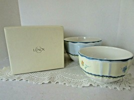 LENOX PROVECAL GARDEN SET OF 2 STACKABLE BOWLS WITH LIDS MIB   - $38.56