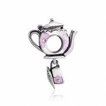 Sterling Silver Dangle Teapot Charms Disney Mad Fit for Pandora/European... - $41.99