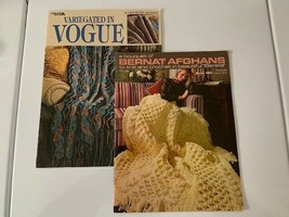 Vintage Afghan Instructional Books Set of 2 Beautiful Patterns Pre-Owned - $14.40