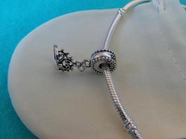 NEW Disney Princess Theme Dangle Charm - Ariel's Tiara Crown, silver plate + BAG - $9.99