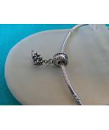 NEW Disney Princess Theme Dangle Charm - Ariel's Tiara Crown, silver pla... - $9.99