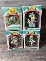 4-Precious Moments 1995 Home For The Holidays Collection Christmas Ornaments - $24.19