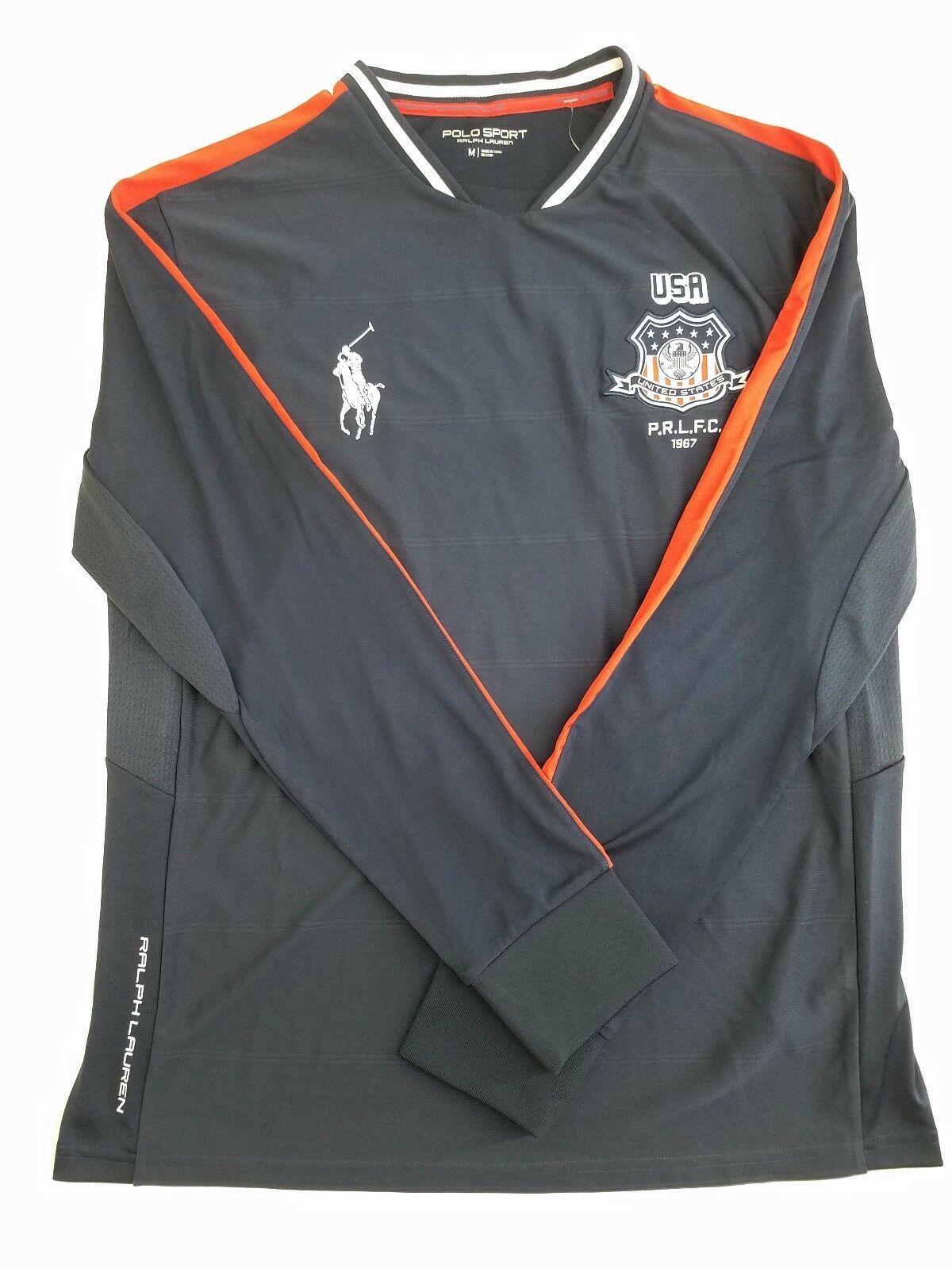 $135 NWT MEDIUM Ralph Lauren Polo Sport PERFORMANCE BIG PONY USA JERSEY SHIRT - $79.19