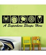 Wall Sticker Vinyl Home Decor Superheros Sign Iron Man Thor Cartoon Kids... - $13.21+