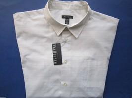 Van Heusen Spread Faux Linen Men' Sport Shirt Bright White XL MSRP $50 U... - $26.50