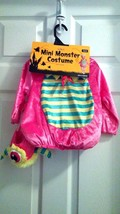 Mini Monster Halloween Complete Costume with Hood - Infant Size 6-12 Mon... - $13.55