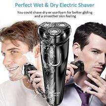 Electric Razor for Men,FLYCO Wet & Dry Mens Razors for Shaving Electric Cordless image 5