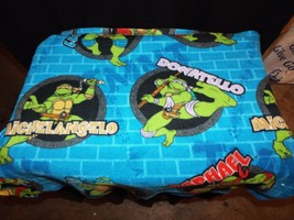 "27"" Vintage Novelty Springs Quilt Fleece Sewer Holes Words Turtles Blue ... - $5.98"