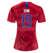 NIKE CRYSTAL DUNN 19 USA 2019 WORLD CUP WOMEN'S RED WOMENS SOCCER JERSEY... - $99.99