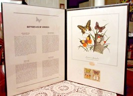 Butterflies Of America Postal Stamp Set 1st Day Issue Fleetwood 1977 Por... - $25.16
