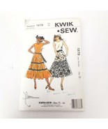 Kwik Sew 1979 Top Layered A-Line Tiered Skirt XS S M L  Pattern Uncut ? - $15.95