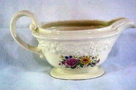 Homer Laughlin Floral TH6 M47N5 Footed Creamer - $5.66