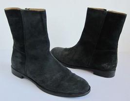 Salvatore Ferragamo Suede Zip Boots Men's Leather Black / Gray SZ 6.5 - $138.59
