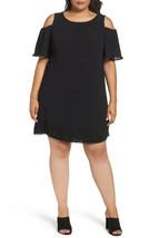 Adrianna Papell Cold Shoulder Shift Dress, BLACK size 18W originally $15... - $41.78