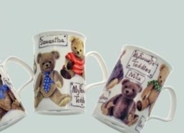 ROY KIRKHAM MY FAVOURITE TEDDY BEAR 2 MUGS FINE BONE CHINA MADE IN ENGLA... - $29.50