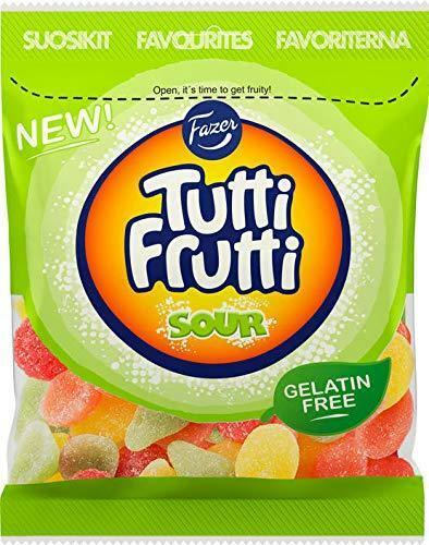 Fazer Tutti Frutti Sour Gummy Candy 180g x 1 pack 6.34 oz - $8.91