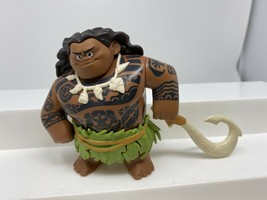 "Disney Moana Maui 4"" Action Figure PVC Cake Topper Hasbro Used - $11.13"