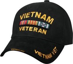 Black Vietnam Veteran Deluxe Low Profile Baseball Hat Cap - $11.99