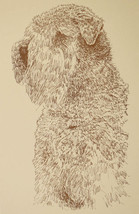 SOFT COATED WHEATEN TERRIER WORD DRAWING 234 Kline adds dogs name free i... - $49.45