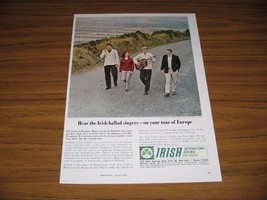 1964 Print Ad Irish International Airlines Ballad Singers in Ireland - $10.72