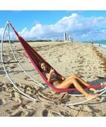 Deluxe Single Cotton Hammock Home Garden Lawn Beach Camping Comfort Rela... - $37.98