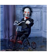 Animatronic SAW Billy On Bike Over 3 FT Tall, Eyes Light Up, Sound, Head... - $692.99
