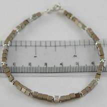 BRACELET GIADAN SILVER 925 HEMATITE GLOSSY AND DIAMONDS WHITE MADE IN ITALY image 1