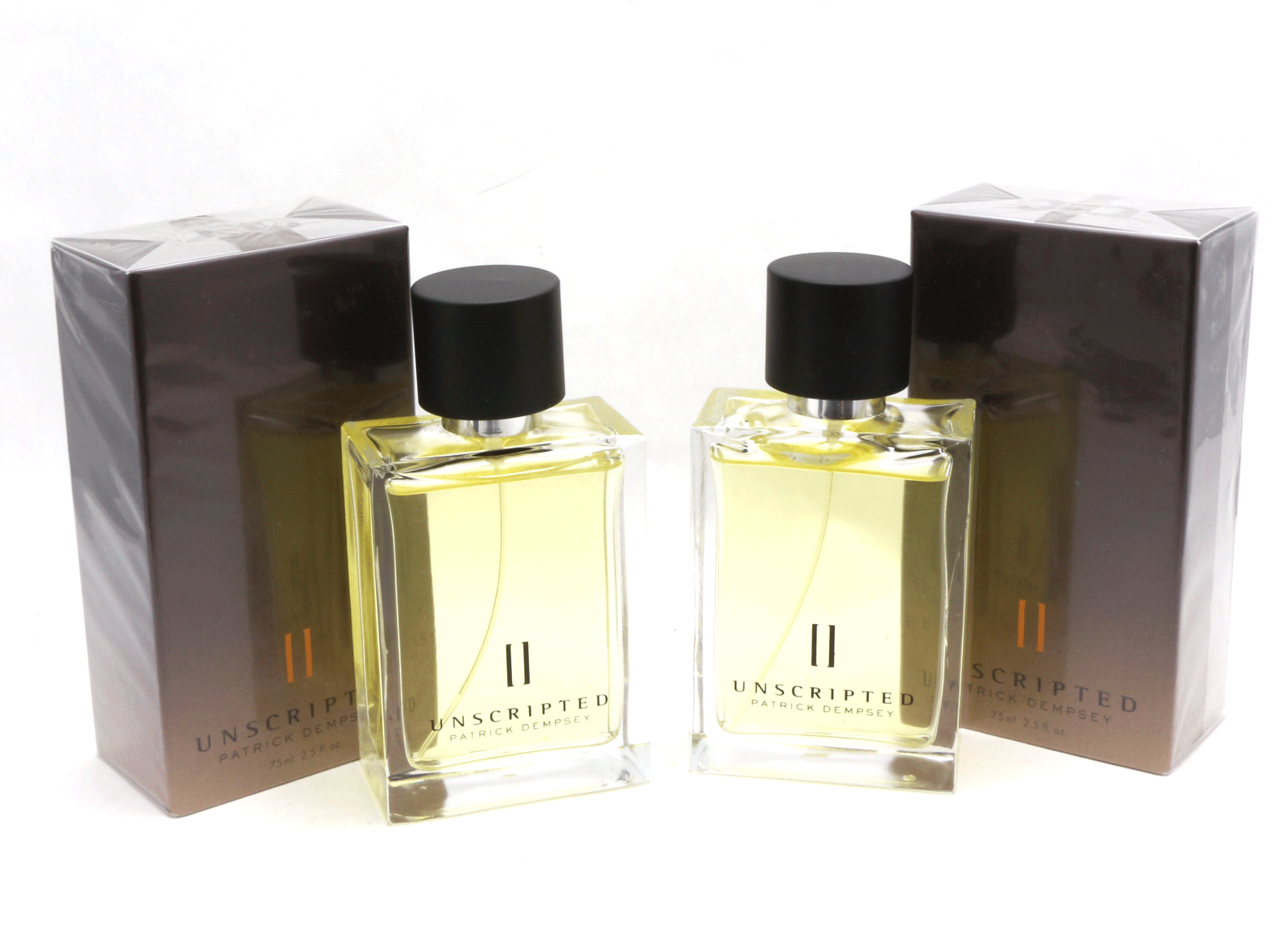 Primary image for Avon UNSCRIPTED II Patrick Dempsey For Men EDT Spray Pack Of 2 x 2.5 oz Sealed