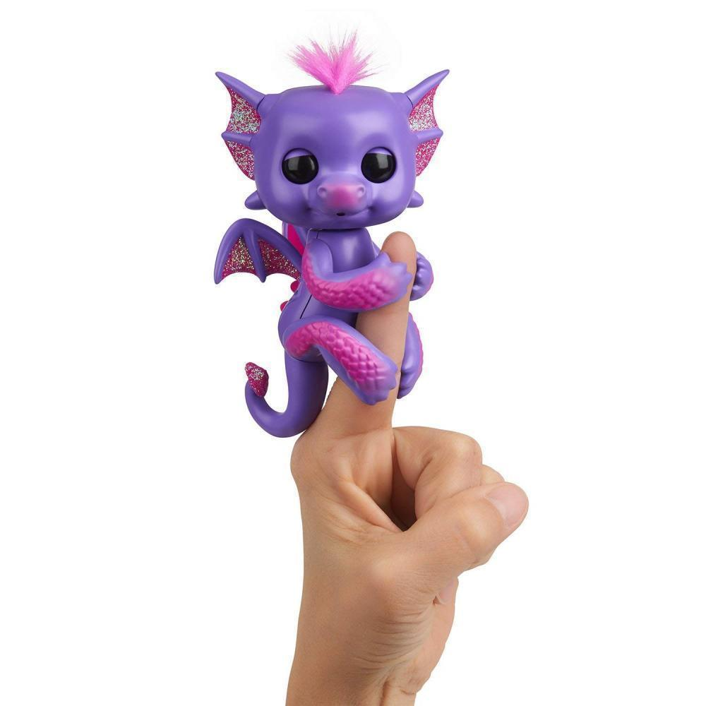 Wow Wee 2017 Fingerlings - Glitter Dragon Kaylin (Purple with Pink) Interactive