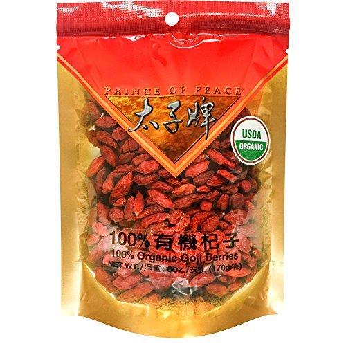Prince of Peace Certified 100% Organic Goji Berries (Super King Size), 6oz - $19.79