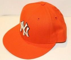 MLB New York Yankees New Era 59FIFTY Fitted Orange/White/Blk Baseball Hat 7 - $39.99