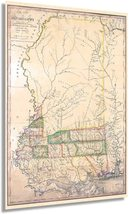 1820 Map of Mississippi - Vintage Map of Mississippi Wall Art - From Surveys and - $34.99+